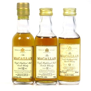 Macallan 12 Year Old Miniatures 3 x 5cl / US Imports
