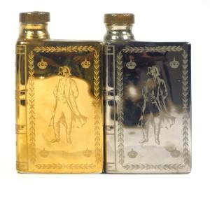 Camus Napoleon Bicentenary Cognac Miniature Decanter 1969 / 22k Gold & Silver Coated