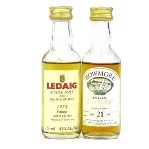 Bowmore 21 Year Old & Ledaig 1974 Miniatures / 2 x 5cl