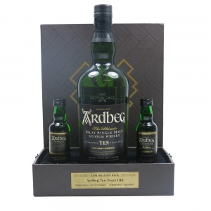 Ardbeg 10 Year Old Exploration Pack Including Miniatures Front
