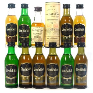 Glenfiddich & Balvenie Miniature Selection / 11 x 5cl