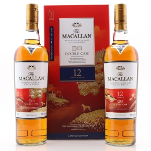 Macallan 12 Year Old Double Cask 2 x 75cl US Import / Year of the Dog