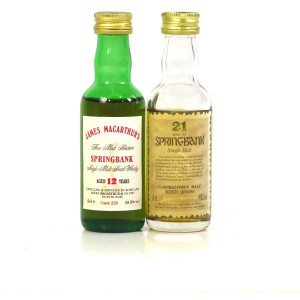 Springbank Miniature Selection x 2 / Including 21 Year Old