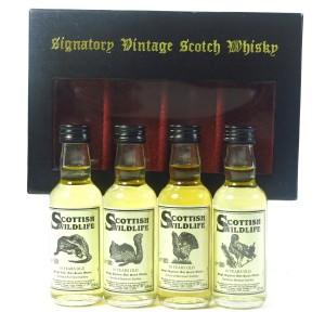 Signatory Vintage 10 Year Old Scottish Wildlife Miniatures 4 x 5cl / including Port Ellen