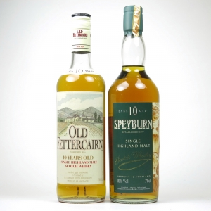 Speyburn 10 Year Old 1990s / Old Fettercairn 10 Year Old 1990s