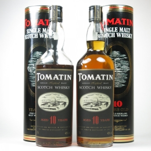 Tomatin 10 Year Old 1980s 75cl x 2