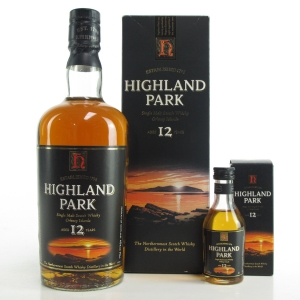 Highland Park 12 Year Old 1990s Including Miniature