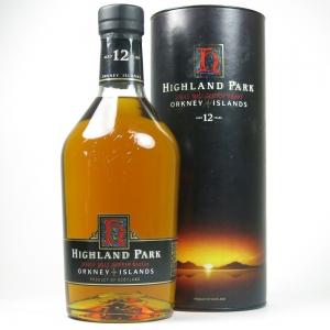 Highland Park 12 Year Old Red 'H' Over Black 1990s 1 Litre
