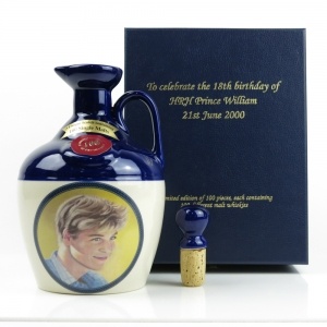 Rutherford's 100 Malts Decanter / 18th Birthday of Prince William