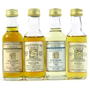 Gordon and MacPhail Miniature Selection x 4 / Including Kinclath 1967