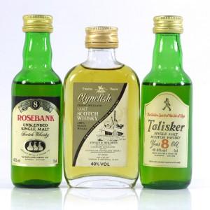 Talisker, Clynelish & Rosebank Miniatures x 3