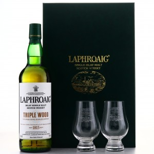 Laphroaig Triple Wood Gift Pack / including Two Glasses