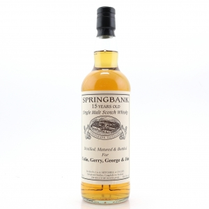 Springbank 15 Year Old Private Bottling