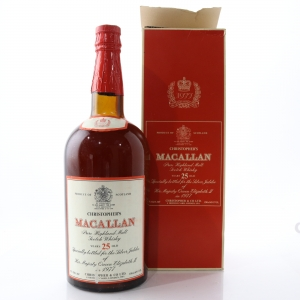 Macallan 25 Year Old Christopher & Co. 1.5 Litre / Silver Jubilee 1977