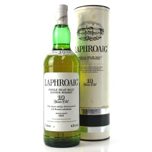 Laphroaig 10 Year Old 1 Litre 1980s