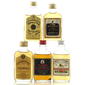 Gordon and MacPhail 1970s Miniature Selection x 5 / Including 100 Proof Glenlivet