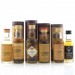 Highland Miniature Selection x 6 / Including Dalmore 12 Year Old