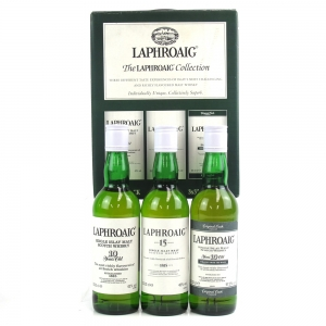 Laphroaig Collection 10, 15 and 10 Year Old Straight From the Wood 3 x 33.33cl
