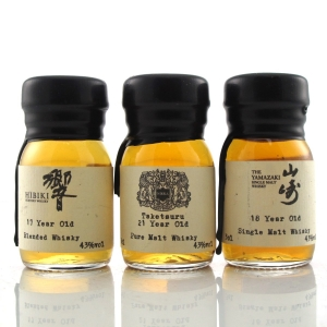 Japanese Drinks by the Dram Miniatures 3 x 3cl