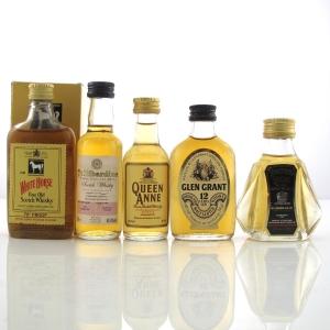 Scotch Whisky Miniature Selection x 5 / Including Tullibardine 1964