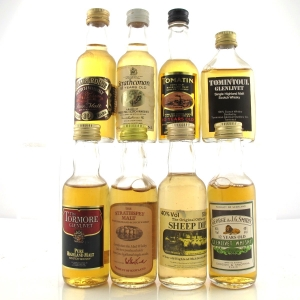 Single Malt and Blended Malt Miniature Selection x 8 / includes Glenlivet Gordon & MacPhail