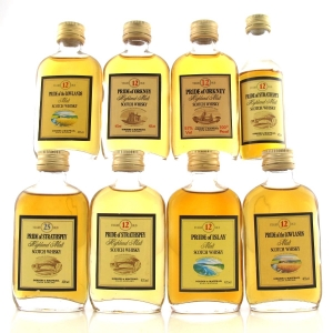 Gordon and MacPhail 'Pride of' Miniatures x 8 / including Strathspey 25 Year Old