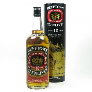 Dufftown - Glenlivet 12 Year Old 1980s 1 Litre
