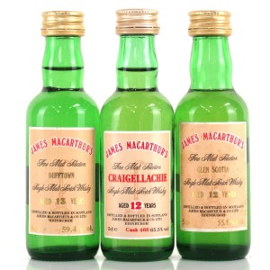 James MacArthur Miniatures 3 x 5cl / Including Craigellachie