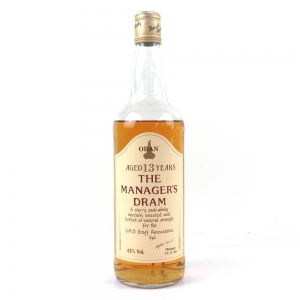 Oban 13 Year Old Manager's Dram 1990 / Low Fill
