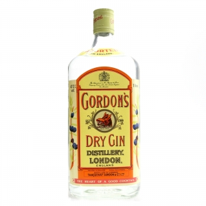 Gordon's Dry Gin 1 Litre 1980s