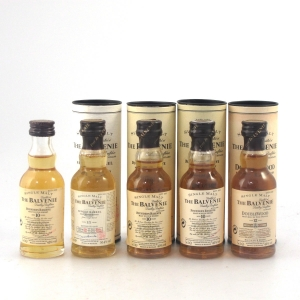 Balvenie Miniature Selection 5 x 5cl / Including 15 Year Old Single Barrel