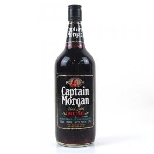 Captain Morgan Black Label Rum 1980s 1 litre