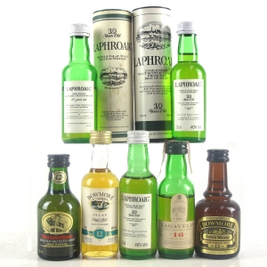 Islay Miniature Selection 7 x 5cl / Including Lagavulin 16 Year Old White Horse