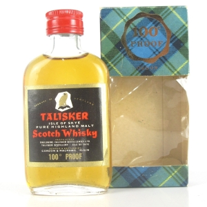Talisker Gordon and MacPhail 100 Proof Miniature 1970s