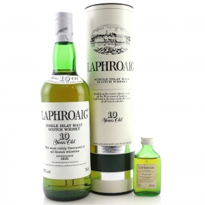 Laphroaig 10 Year Old 1980s / with Miniature 5cl