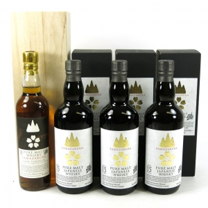 Yamazakura 15 Year Old Pure Malt and Cask Strength 3 x 70cl & 35cl