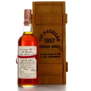 Macallan 1957 Handwritten Label / Rinaldi 25th Anniversary