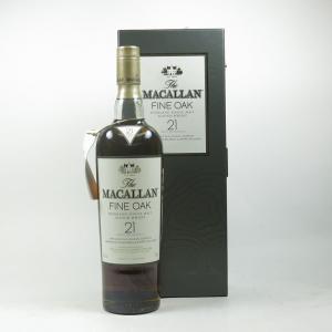Macallan 21 Year Old Fine Oak Front