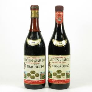 Marchese di Barolo Brachetto 1974 & Gringnolino 1971 2 x 72cl