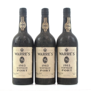 Warre's 1963 Vintage Port 3 x 70cl