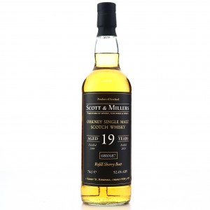Orkney Single Malt 1999 Scott and Millers 19 Year Old