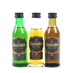 Glenfiddich Miniature Selection 3 x 5cl