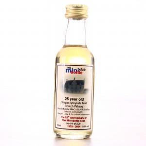 Macallan 1979 Mini Bottle Club 25 Year Old Miniature