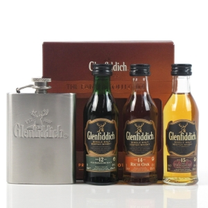 Glenfiddich Miniature Selection 3 x 5cl / Including Hip Flask