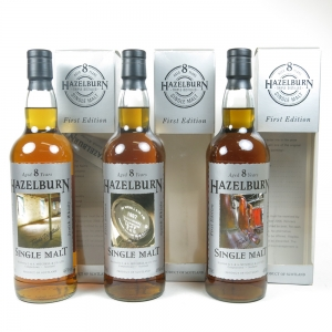 Hazelburn 8 Year Old First Edition Collection (3 x 70cl)