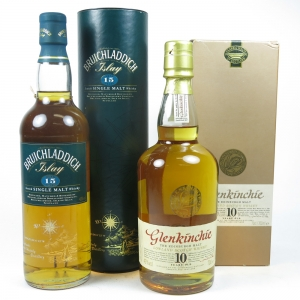 Bruichladdich 15 Year Old and Glenkinchie 10 Year Old Back