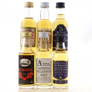 Scotch Whisky Miniature Selection x 6 / Including Royal Lochnagar 12 Year Old