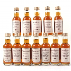 Glendronach 15 Year Old Sherry Wood Miniatures 12 x 5cl