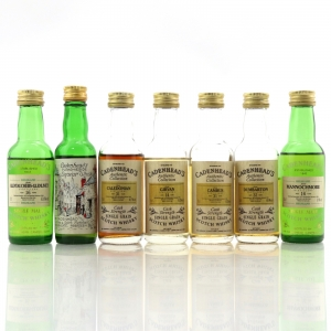 Cadenhead's Miniature Selection x 7 / Including Dumbarton and Caledonian Grain Whiskies