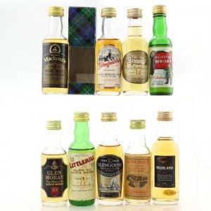Miscellaneous Malt Whisky Miniature Selection x 9 / Including Littlemill